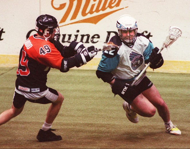 In the last game he played for the Knighthawks, Paul Gait scored scored four goals and four assists in the 1997 MILL championship victory over Buffalo.