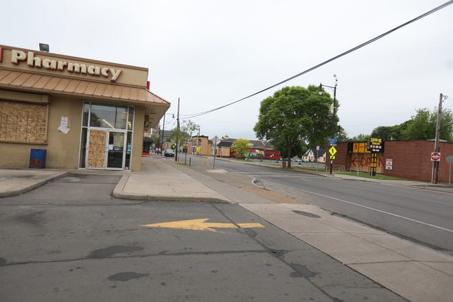 Rite Aid Pharmacy and Clinton Ave Jewelry are still boarded up from looting over the weekend. Some businesses have started to take down some of the boarding Tuesday, Jun 2, 2020.