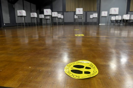 The Wicomico Civic Center takes on a new look on Primary Election Day in Salisbury on June 2, 2020.