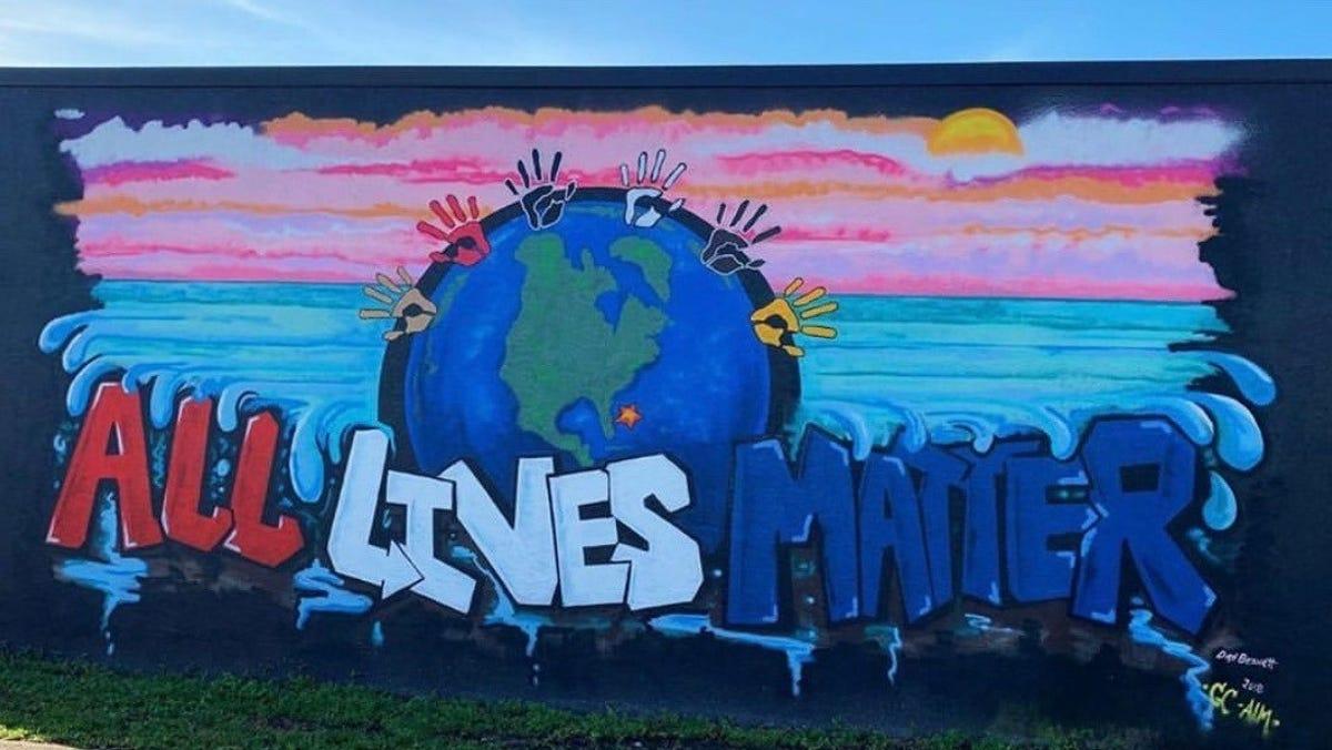 Downtown Vero Beach mural defaced, becomes Black Lives Matter memorial