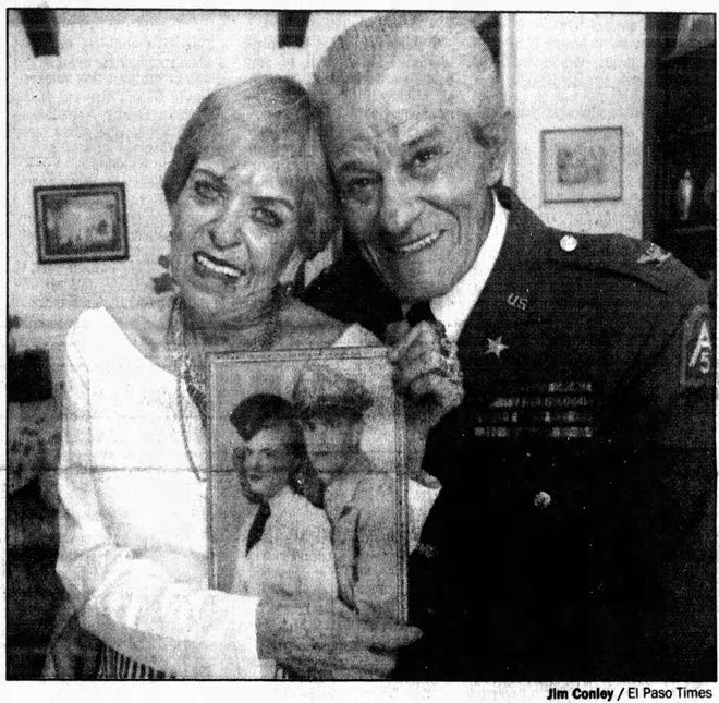 June 5, 1994: Retired El Paso Army Col. Ray Aquilina and his wife Rue Aquilina both survived service in World War II.