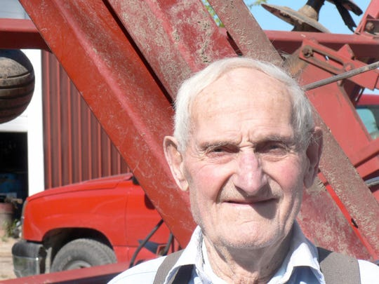 Les Mabie, unsung War II hero and longtime registered Jersey dairyman at Stoughton died in 2014. Apparently he never discussed his war experiences with even his family - until this column originally ran in 2012.