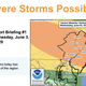 Severe thunderstorms and showers are expected to hit almost all parts of New Jersey Wednesday