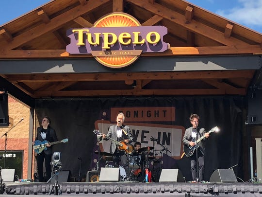 The Weeklings of Asbury Park on stage at the Tupelo Music Hall in Derry, New Hampshire drive-in concert on Sunday, May 31.