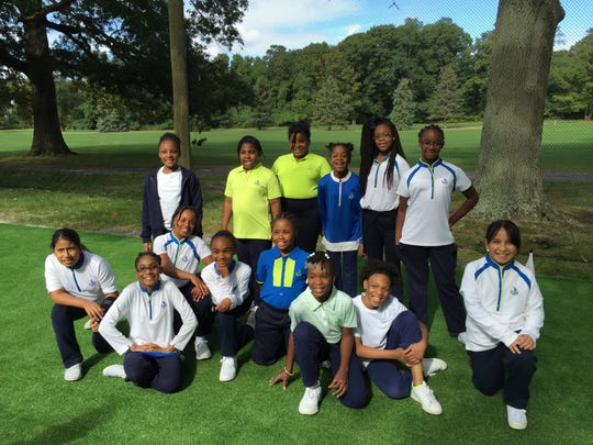 Girls from Sisters Academy of New Jersey in Asbury Park finish a day of golf lessons provided by The First Tee of Jersey Shore. The national organization has several chapters in New Jersey.