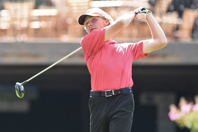 Brownwood's John Monson tees off on No. 15 during the first round of the WTJCT West Texas Junior Open at the Abilene Country Club South Course on Wednesday, June 3, 2020.