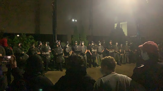 "Binghamton Mayor Richard David said when protesters took to the police department June 2, 2020, it was the ""first time in modern history"" officers were donned in riot gear downtown."