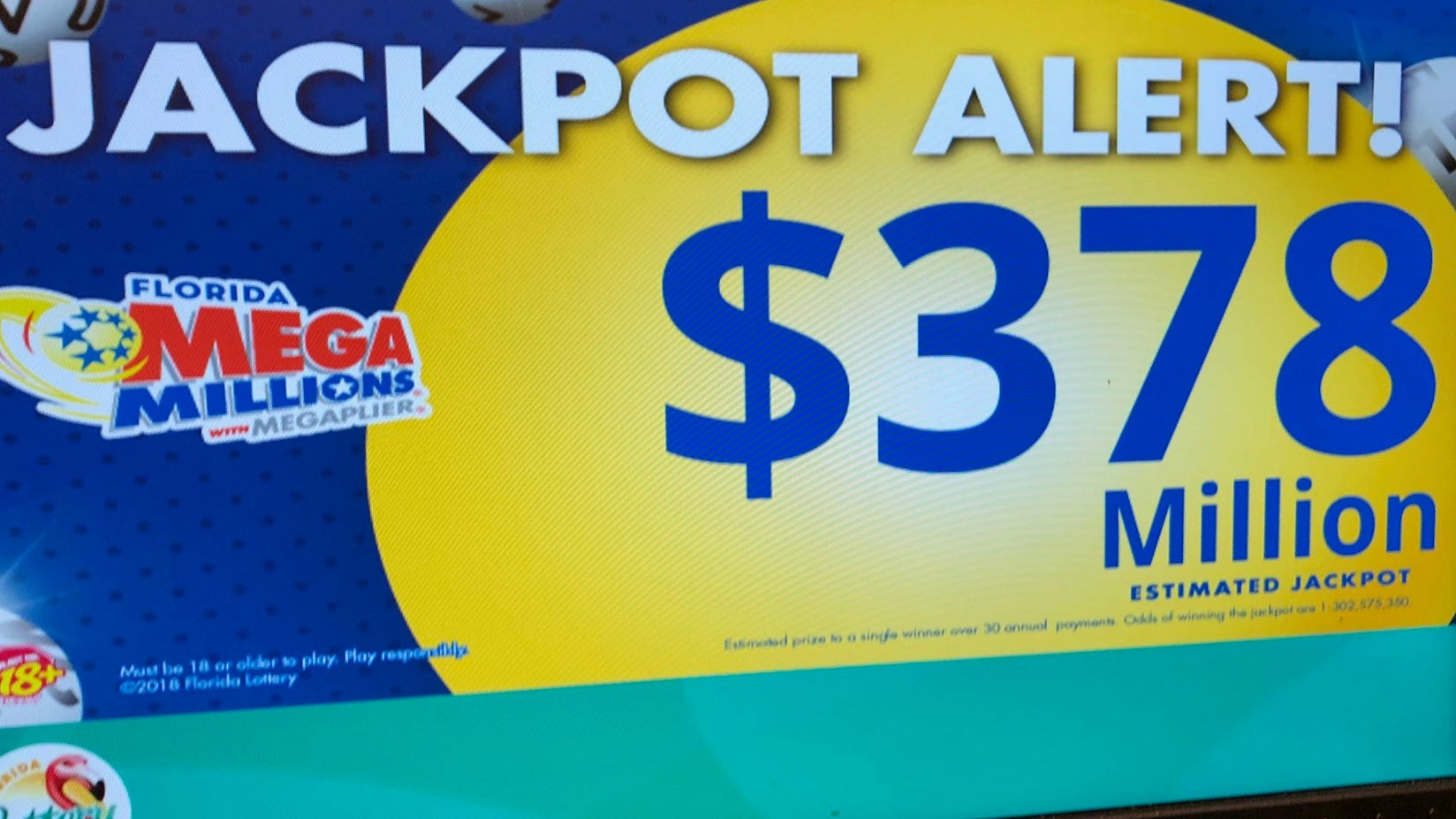 Mega Millions Now 378 Million After Oddities In Latest Lottery Drawing