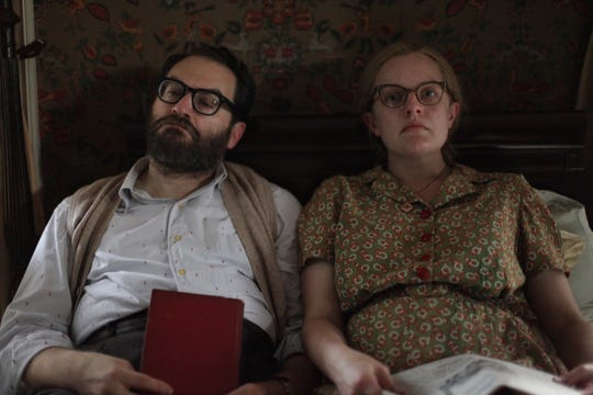 """Michael Stuhlbarg and Elisabeth Moss star in """"Shirley,"""" a film set in southern Vermont."""