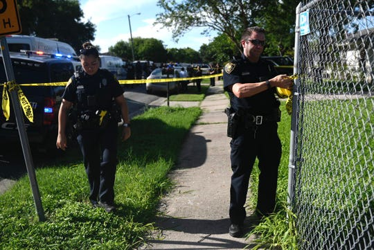 Corpus Christi police officers respond to an officer involved shooting in the 2000 block of Rockford.