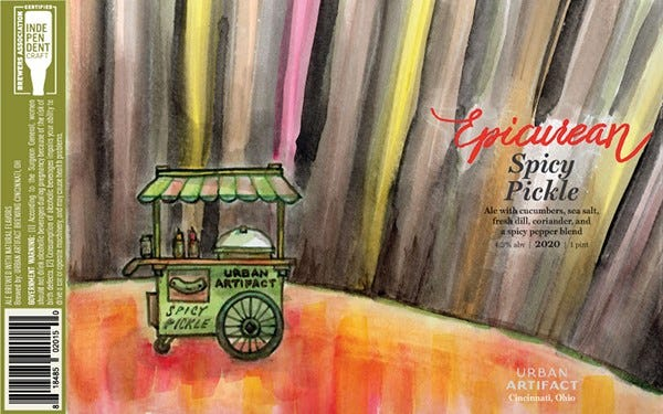 Epicurean Spicy Pickle from Urban Artifact will be released June 24, 2020.