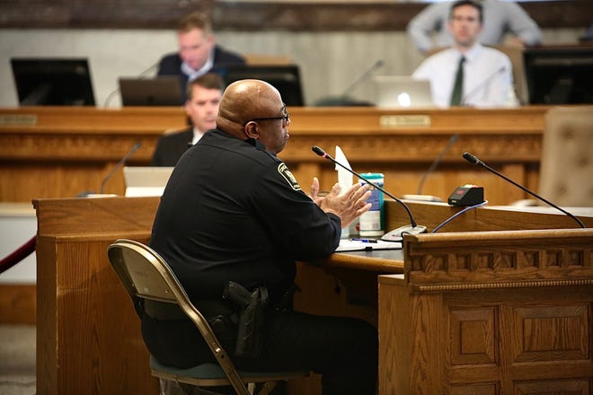 Cincinnati police Chief Eliot Isaac speaks to city council Wednesday, June 3, 2020.