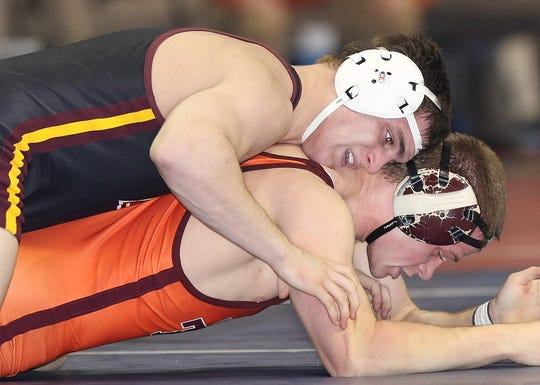 Former Middlesex High School star Mike Dessino competing at Bloomsburg