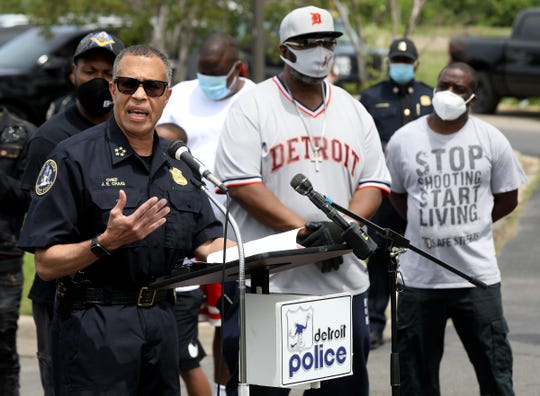 Detroit Police Chief James Craig held a press conference in the parking lot of Family Dollar on Gratiot Avenue and Connor in Detroit on June 3, 2020, about yesterday's protest and march that stopped here. Craig said that of the 127 arrested, 47 were from Detroit, six were from out of state (Maryland, California, Washington DC, three from New York) and the remaining from the suburbs or the Metro Detroit area.
