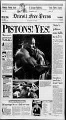 Detroit Free Press front page on June 4, 1988.