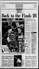 Detroit Free Press sports front page on June 4, 1990.