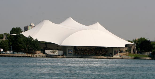 Aretha Franklin Amphitheatre, formerly known as Chene Park, was renamed for the Detroit music star after her 2018 death.