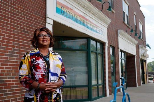 Mayor-elect Ella Jones poses for a photo Wednesday, June 3, 2020, in Ferguson, Mo.