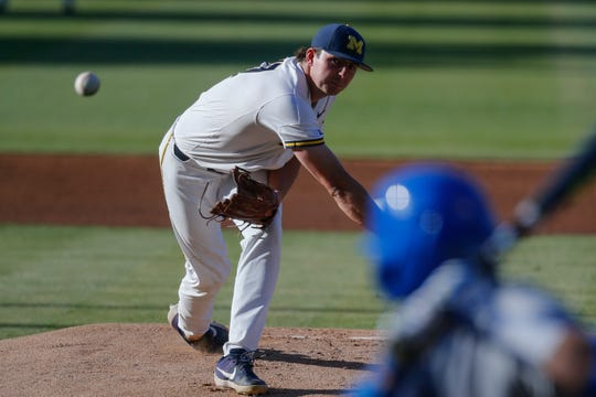 Michigan's Jeff Criswell could be selected in next week's MLB draft.