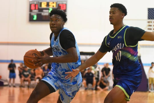 The Moneyball Pro-Am scheduled for this summer was canceled Wednesday because of complications from the COVID-19 pandemic. Michigan State players such as Julius Marble (left) were a staple of the showcase in the Lansing area.