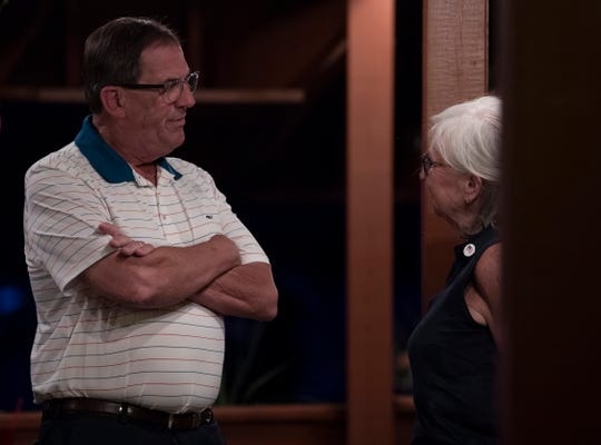 Mike Griffin and his wife, Patty, await election returns at Fiesta Acapulco Mexican Restaurant with the Warrick County Republicans Tuesday night, June 2, 2020. Griffin was running against Cindy Ledbetter for the District 75 seat Ron Bacon was vacating after this term.