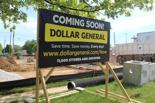 A new 9,000-square-foot Dollar General store is under construction on the corner of East State Street and Prospect Street in Fremont. The store could be open as early as November.