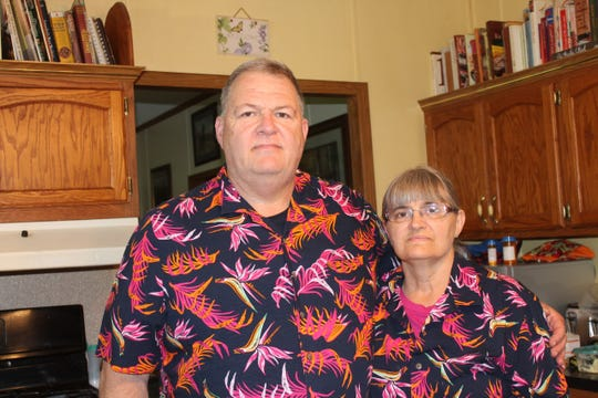 Pastor Mike Kelly and his wife, Pam Kelly, from the Newfield United Methodist Church.