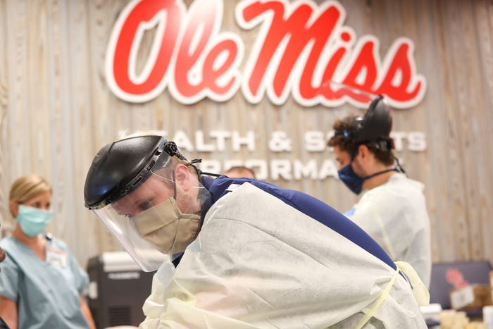 Nine Ole Miss athletes in quarantine after close contact with COVID-19 case, university says