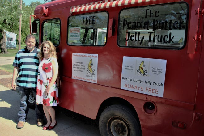 Brock and Amy Parker operate the Peanut Butter Jelly Truck, a ministry that provides free meals to neighborhoods in the northeastern section of Marion. The Parkers plan to expand the ministry to serve neighborhoods on the city's west side. As a 501c3 charity called Luke 3:11 Ministries, Amy Parker said the Peanut Butter Jelly Truck ministry is dedicated to the ideal of unconditional charity set forth in the biblical passage of Luke 3:11.