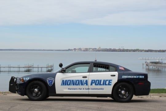 A Monona Police Department squad car.