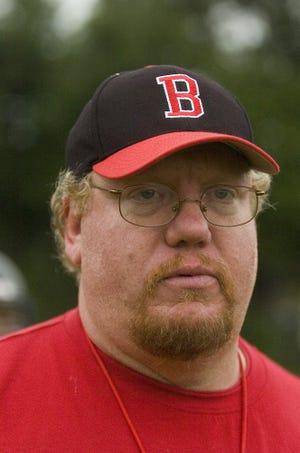 Boonton High School head football coach Dan Allen, at practice in Boonton, August 22, 2007.  Photo by Warren Westura