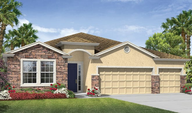 The Destin home design is one of the options now  available in the growing Golden Gate Estates community.