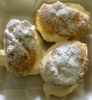 Sugary Sweet Bakery owner Kathy Budreu says cream puffs, made from her mother Sally Deckard's recipe, are among the more popular items at the new Granville bakery.