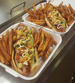 Sonoran hot dogs from El Jacalito, 2215 Missouri Ave.