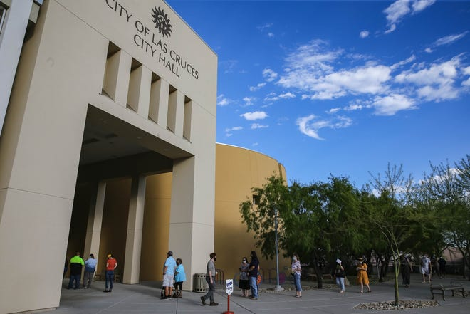 Voting takes place at the Las Cruces City Hall on Tuesday, June 2, 2020.