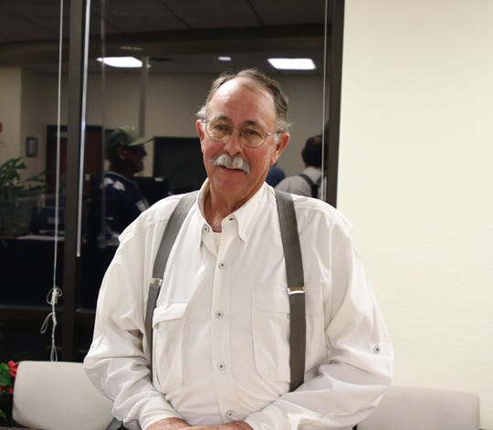 Eddy County Commission District 3 Republican candidate Fred Beard waits for election results at the Eddy County Clerk's office on June 2, 2020.
