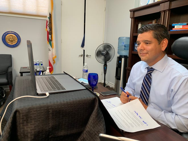 """Rep. Ruiz listens to community leaders from the Coachella Valley in a virtual """"listening session."""""""