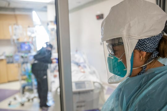El Centro Regional Medical Center staff attends a patient who is COVID-19 positive and has been intubated on May 30, 2020.