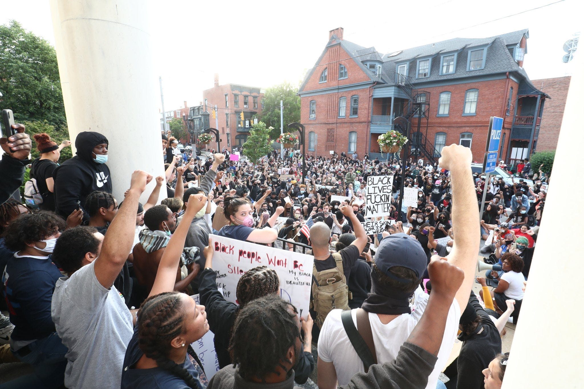 Protesters took to the streets of York for the second consecutive day on Tuesday, as emotions continued to boil over the death of George Floyd in Minneapolis earlier in the week and the state of policing in America.