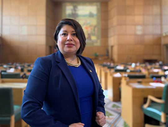 Oregon Rep. Teresa Alonso León at the State Capitol. A Democrat, she represents House District 22, which incorporates Woodburn, Gervais and North Salem.
