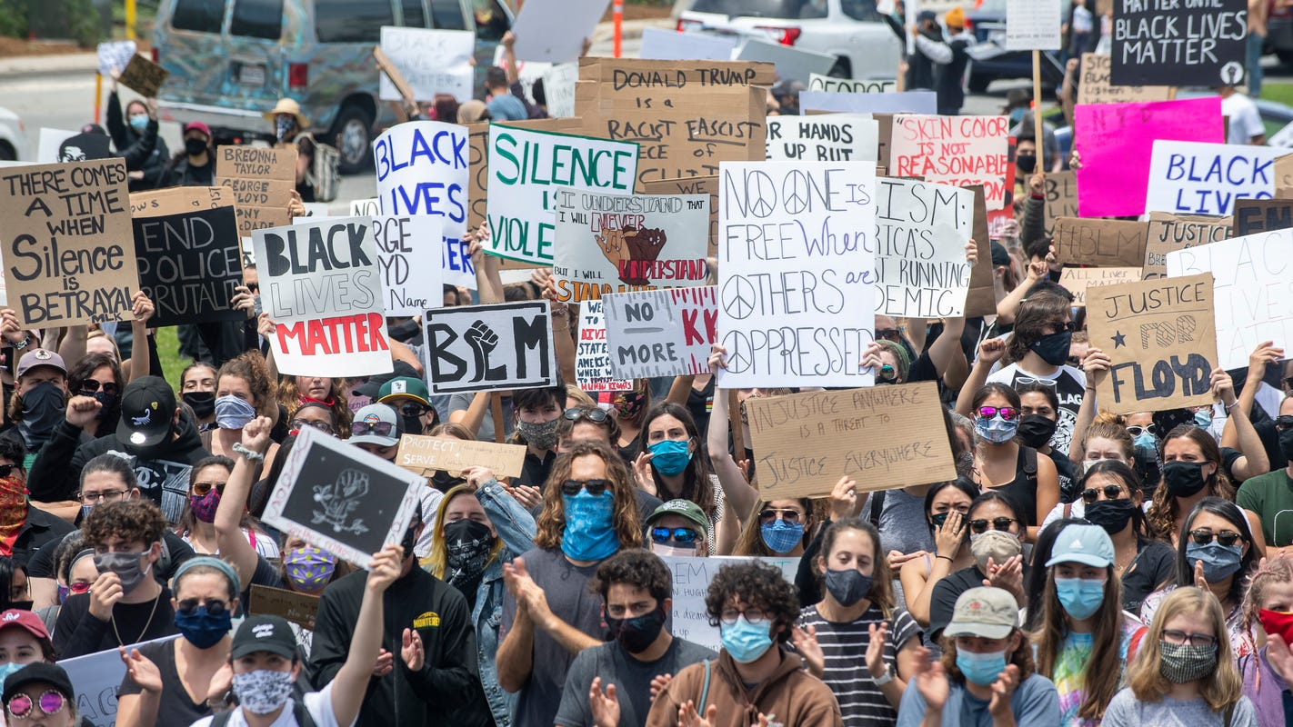In California local law enforcement keep eye on protests from afar