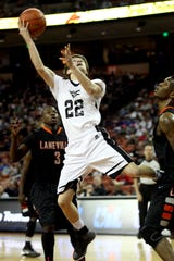 Water Valley High School's Trae Hannon gets a difficult shot up during the Wildcats' Class 1A Division II state championship win over Laneville on March 8, 2014.