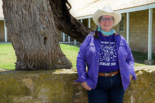 Leslei Fisher, producer of the Cowboy Way Jubilee, is shown at Fort Concho.