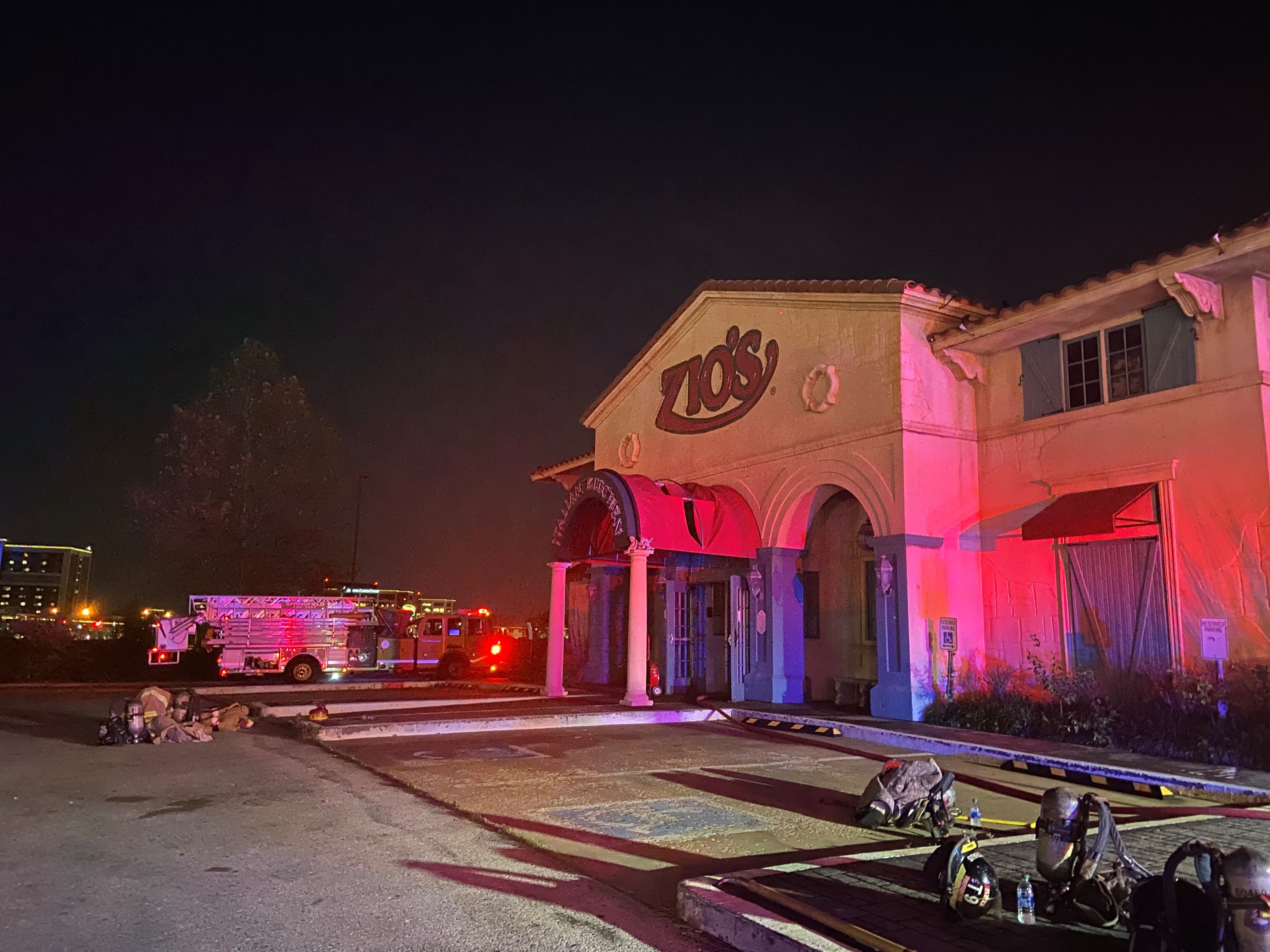 Staff evacuated during fire at Zio's Italian Kitchen