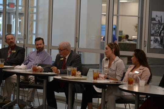 An educators and manufacturers round-table discussion was held through the Wichita Falls Chamber's talent partnership program.
