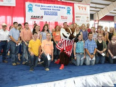 Each year market livestock exhibitors compete for scholarship monies from the Blue Ribbon Sale of Champions Foundation.