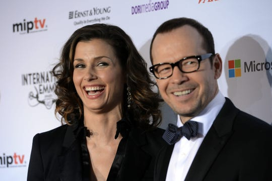 """""""Blue Bloods"""" co-star Bridget Moynihan, shown with Donnie Wahlberg, is from Binghamton."""