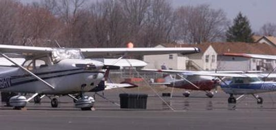 Planes parked at Linden Airport