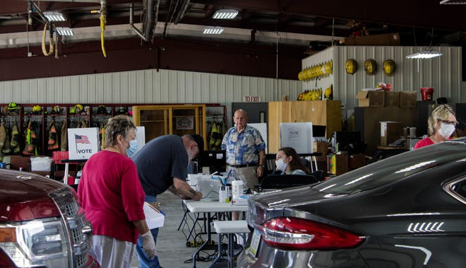 All of Davis County's primary voters came to the Bloomfield Fire Station this year to protect them from the coronavirus. The election commission implemented drive-through voting, so voters did not need to even leave their car.