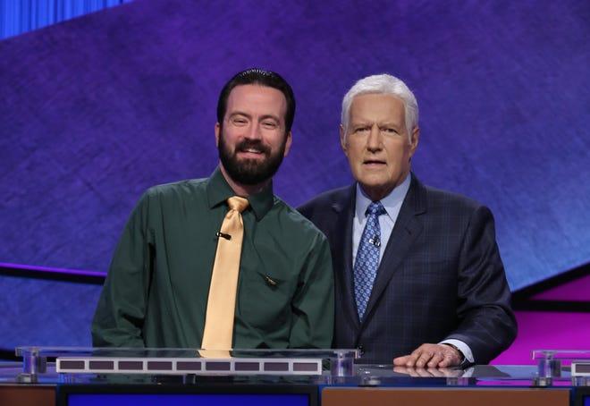 Ben Henri, with Alex Trebek, on 'Jeopardy!'